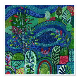 Poster  Bird by the Pond - Janet Broxon