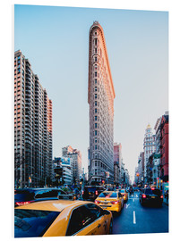 Tableau en PVC  Flat Iron Building et taxis jaunes à New York - Sascha Kilmer