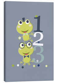 Tableau sur toile  Frogs playing with numbers - Jaysanstudio