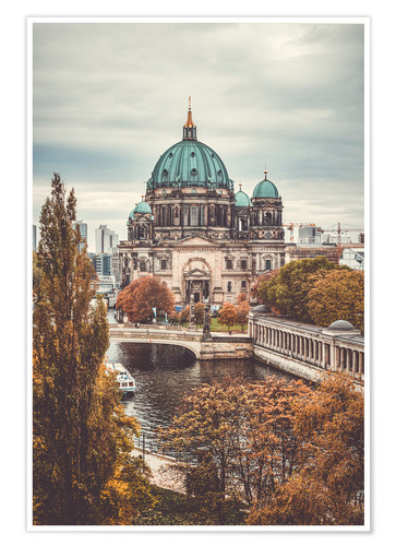 Poster Berlin Cathedral in autumn
