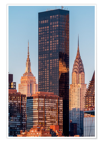 Poster Empire State und Chrysler Building
