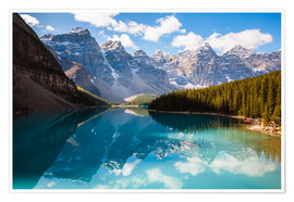 Poster  Beautiful Moraine lake in autumn, Canada - Matteo Colombo
