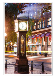 Poster  Steam clock in Gastown, Vancouver, Canada - Matteo Colombo