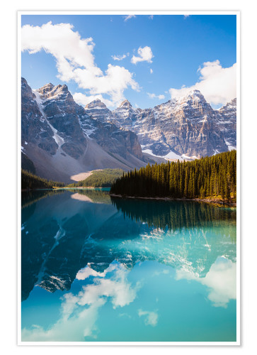 Poster Lake Moraine in the Canadian Rockies