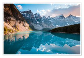 Poster  Sunset over Moraine lake, Banff, Canada - Matteo Colombo