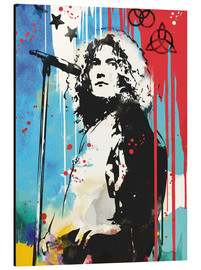 Tableau en aluminium  Robert Plant de Led Zeppelin - 2ToastDesign