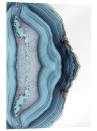 Verre acrylique  Light blue agate - Emanuela Carratoni