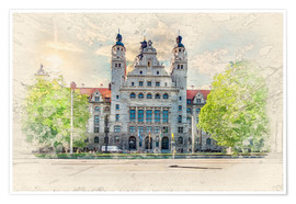 Poster Leipzig New Town Hall
