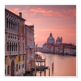 Poster Venice and the grand Canal at sunrise