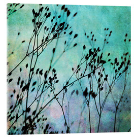 Verre acrylique  Black Flowers - Mareike Böhmer Photography