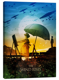 Toile  The Wind Rises Poster Lounge - Albert Cagnef