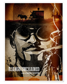 Poster  Django unchained (anglais) - Albert Cagnef