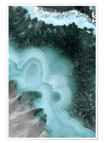 Poster Agate bleue hiver
