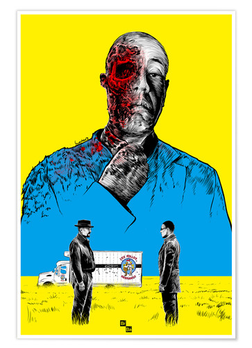 Poster Breaking Bad Gus Fring death whit blood