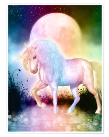 Poster  Unicorn - Love yourself - Dolphins DreamDesign
