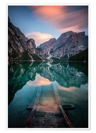 Poster  Lago di Braies just before sunset - MUXPIX