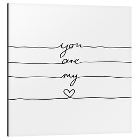 Tableau en aluminium  You are my heart - Mareike Böhmer Graphics