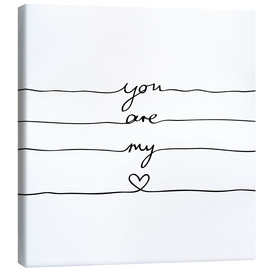 Toile  You are my heart - Mareike Böhmer Graphics