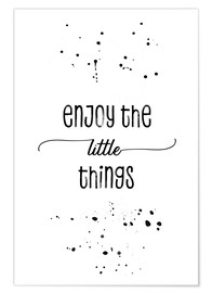 Poster  Enjoy the little things - Melanie Viola