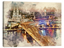 Tableau sur toile  Cologne Skyline Cologne Cathedral - Peter Roder