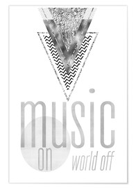 Poster  Music on World Off (anglais) - Melanie Viola