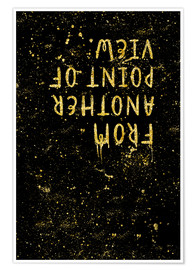Poster TEXT ART GOLD From another point of view