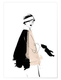 Poster  20s Fashion Illustration - Wadim Petunin