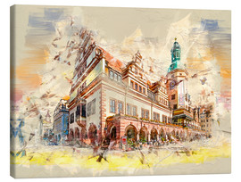 Tableau sur toile  Leipzig Old Town Hall - Peter Roder