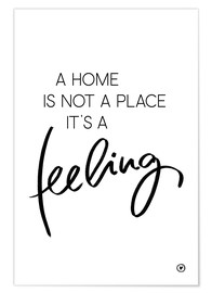 Poster  Home feeling - m.belle