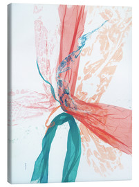 Toile  Peach and Teal abstract - Jan Sullivan Fowler