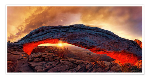 Poster Mesa Arch Sunrise au parc national de Canyonlands, USA