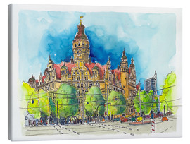 Tableau sur toile  Leipzig New Town Hall - Hartmut Buse