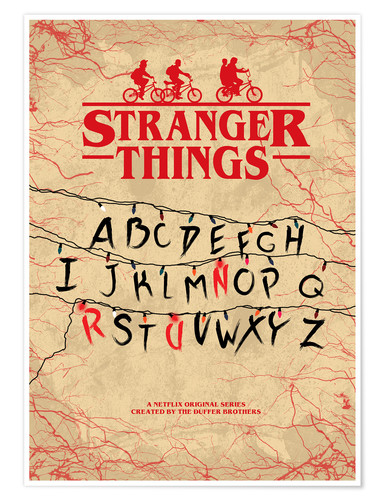 Poster Stranger Things (anglais)