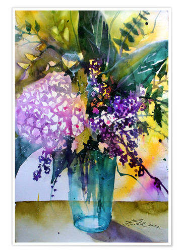 Poster Bouquet with hydrangea