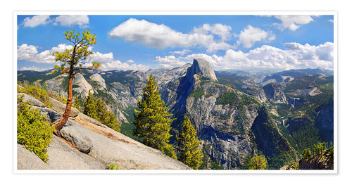 Poster Glacier Point Yosemite Valley California USA