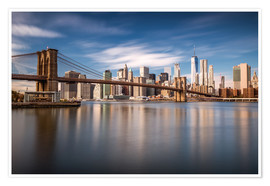 Poster New York City - Pont de Brooklyn et skyline