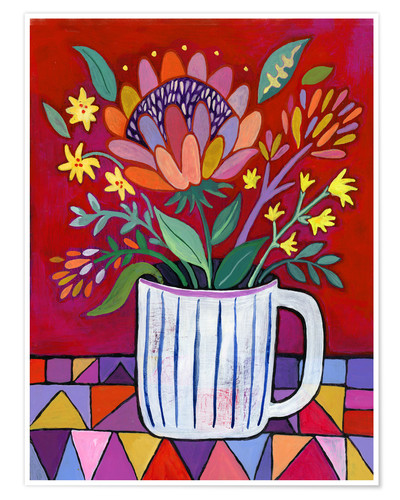 Poster Red Protea