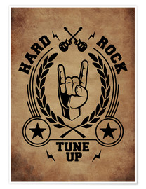 Poster  hard rock vintage - Durro Art