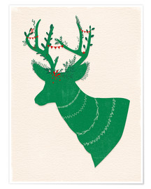 Poster Green Stag