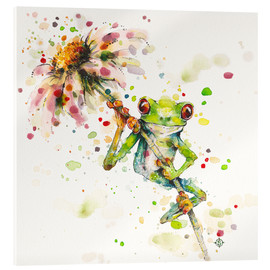 Verre acrylique  Hello There Bright Eyes (Green Tree Frog) - Sillier Than Sally