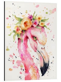 Tableau en aluminium  Petit flamant rose - Sillier Than Sally