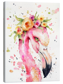 Tableau sur toile  Petit flamant rose - Sillier Than Sally