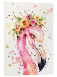 Tableau en PVC  Petit flamant rose - Sillier Than Sally