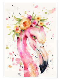 Poster  Petit flamant rose - Sillier Than Sally
