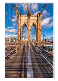 Poster Brooklyn Bridge New York