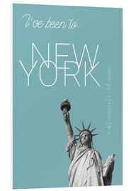 Tableau en PVC  Popart New York Statue of Liberty I have been to Color: Light blue - campus graphics