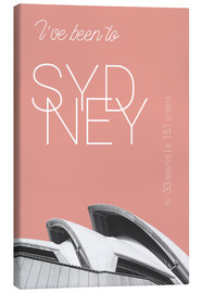 Tableau sur toile  I've been to Sydney - campus graphics
