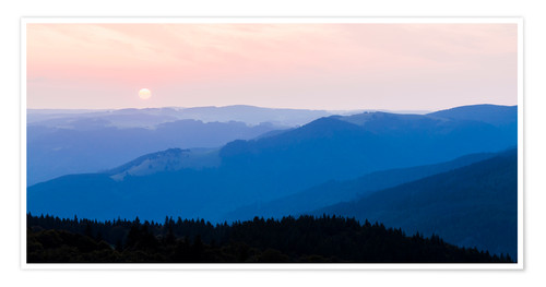 Poster Sunrise at Schauinsland in the Black Forest