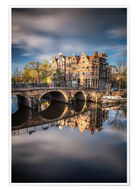 Poster  Amsterdam during morning light - Dennis Fischer