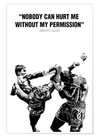 Poster  Motivational Quotes martial art - Paola Morpheus